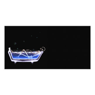 BATH TUB X-RAY VISION SKELETON - ORIGINAL PHOTO CARD