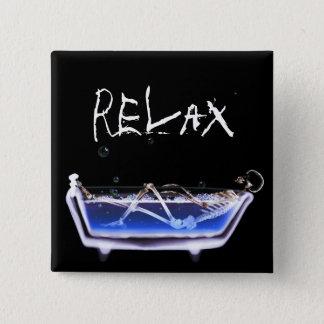BATH TUB X-RAY VISION SKELETON - ORIGINAL PINBACK BUTTON