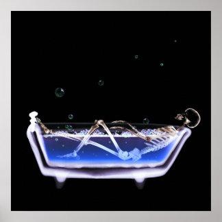 BATH TUB X-RAY VISION SKELETON - ORIGINAL POSTER