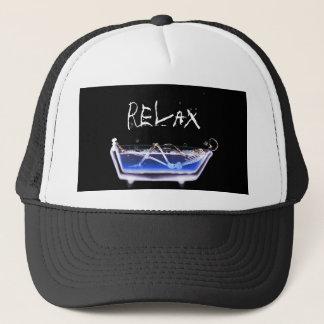 BATH TUB X-RAY VISION SKELETON - ORIGINAL TRUCKER HAT