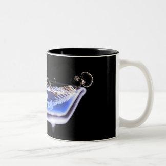 BATH TUB X-RAY VISION SKELETON - ORIGINAL Two-Tone COFFEE MUG