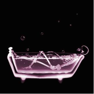 BATH TUB X-RAY VISION SKELETON - PINK CUTOUT