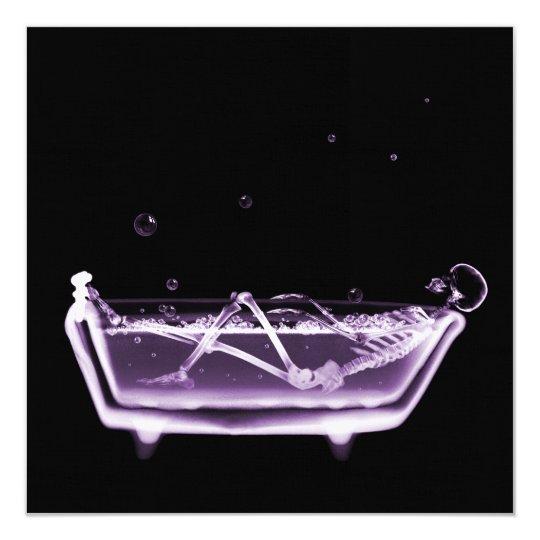 BATH TUB X-RAY VISION SKELETON - PURPLE CARD