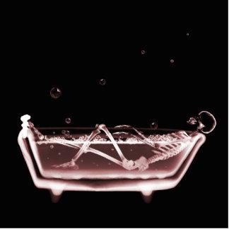 BATH TUB X-RAY VISION SKELETON - RED CUTOUT