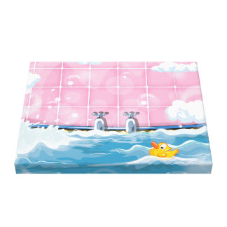 Bath Yellow Duck Canvas Print
