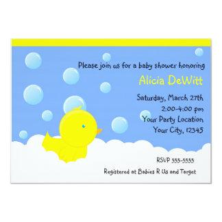 Bath Yellow Rubber Duckie Baby Shower Invitation