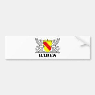Bathe coats of arms with writing bathing bumper sticker