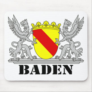 Bathe coats of arms with writing bathing mouse pad