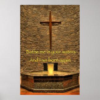 Bathe Me - Religious Affirmation Poster