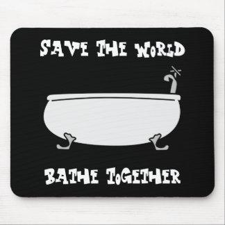 Bathe Together Mousepad