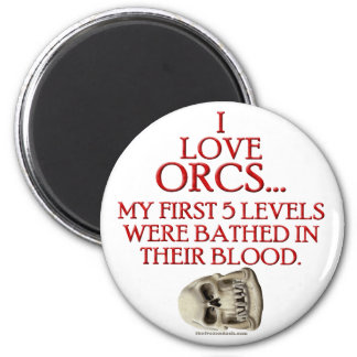 Bathed In Orc Blood 2 Inch Round Magnet