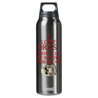 Bathed In Orc Blood Insulated Water Bottle