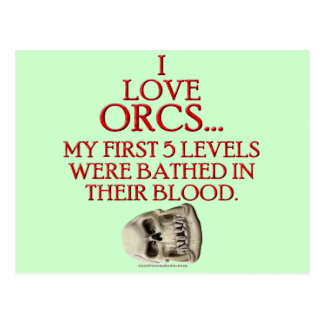 Bathed In Orc Blood Postcard