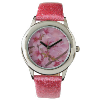Bathed in Pink Japanese Cherry Blossoms Watches