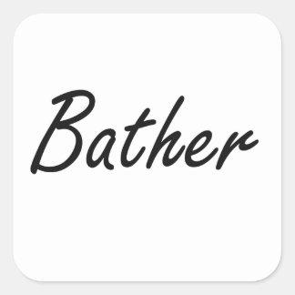 Bather Artistic Job Design Square Sticker