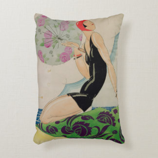 Bather, c.1925 accent pillow