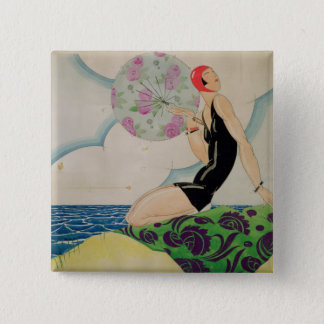 Bather, c.1925 button