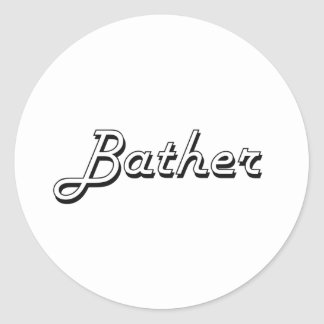 Bather Classic Job Design Classic Round Sticker