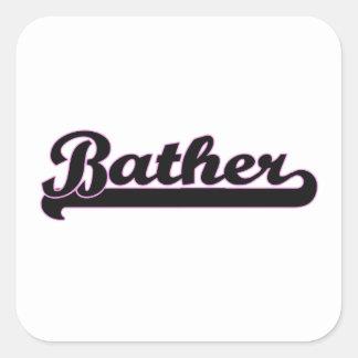 Bather Classic Job Design Square Sticker