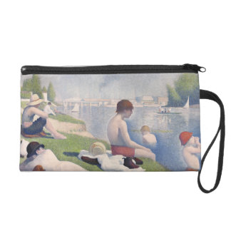 Bathers at Asnières, 1884 (oil on canvas) Wristlet Purse
