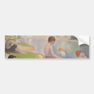 Bathers at Asnieres by Georges Seurat Car Bumper Sticker