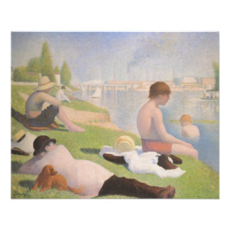 Bathers at Asnieres by Georges Seurat Flyer