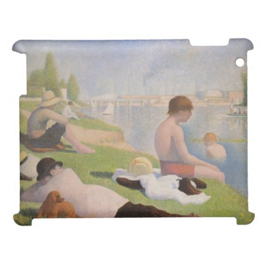 Bathers at Asnieres by Georges Seurat iPad Case