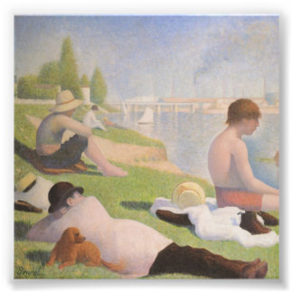 Bathers at Asnieres by Georges Seurat Photo Print