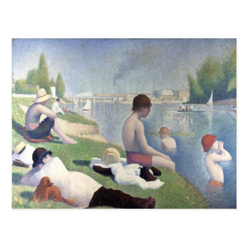 Bathers at asnieres georges seurat postcard zazzle for Design your own bathers