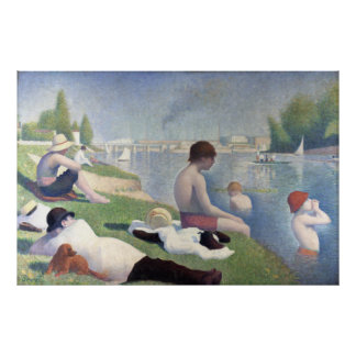 Bathers at Asnieres, Georges Seurat Posters