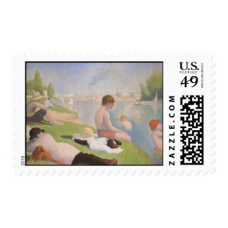 Bathers at Asnieres Postage Stamps