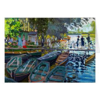 Bathers at La Grenouillere Claude Monet Card