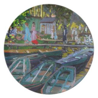 Bathers at La Grenouillere Claude Monet Party Plates