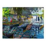 Bathers at La Grenouillere Claude Monet Postcard