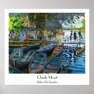 Bathers at La Grenouillere Claude Monet Poster