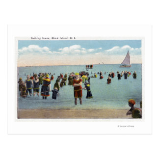 Bathers at the Beach Postcard