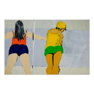 Bathers at Ventura Beach Poster