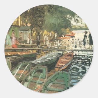 Bathers By Monet Classic Round Sticker
