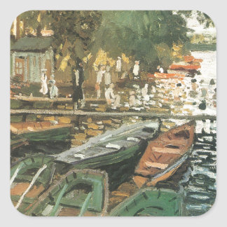 Bathers By Monet Square Sticker
