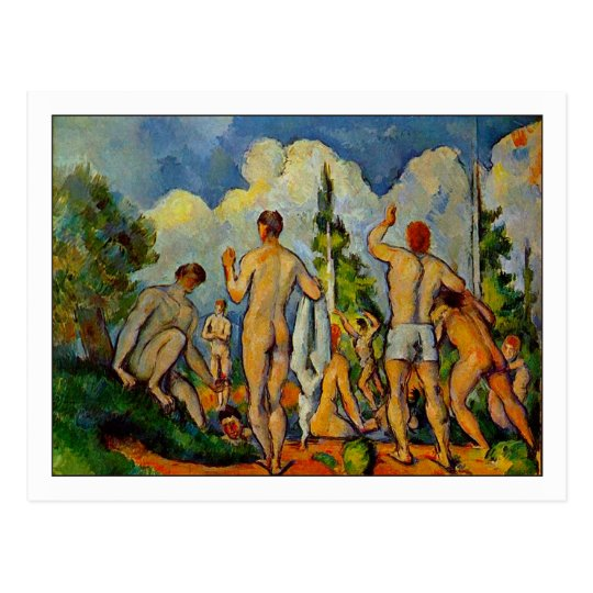 Bathers by paul cezanne postcard zazzle for Design your own bathers