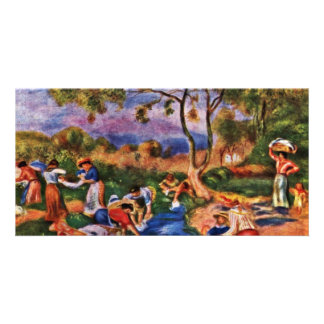 Bathers By Pierre-Auguste Renoir (Best Quality) Photo Greeting Card