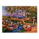Bathers By Pierre-Auguste Renoir (Best Quality) Post Card