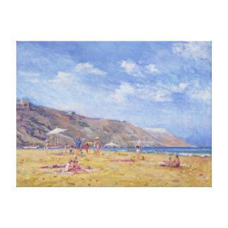 Bathers Gozo Canvas Print