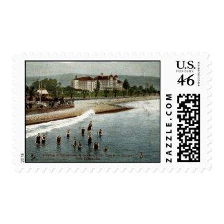 Bathers, Hotel Potter, Santa Barbara CA, 1908 stamp