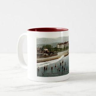 Bathers, Hotel Potter, Santa Barbara CA, 1908 Two-Tone Coffee Mug