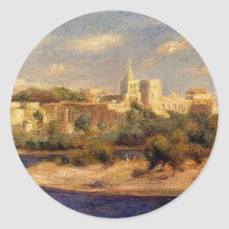 Bathers on the Banks of the Thone in Avignon Classic Round Sticker