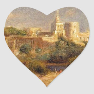 Bathers on the Banks of the Thone in Avignon Heart Sticker