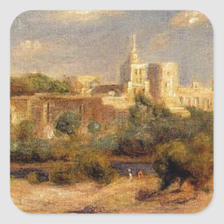 Bathers on the Banks of the Thone in Avignon Square Sticker