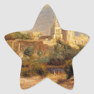 Bathers on the Banks of the Thone in Avignon Star Sticker