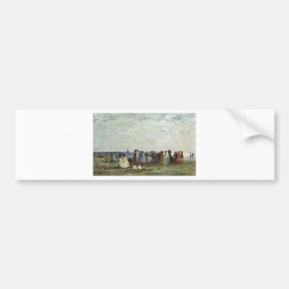 Bathers on the Beach at Trouville Car Bumper Sticker